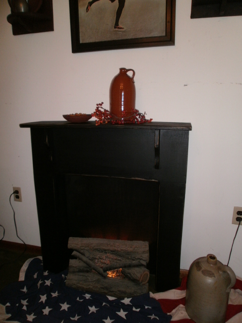 Fireplace Mantle  SALE with FREE SHIPPING ! / primitive style
