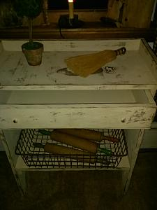 Accent Table with Draw / dry sink / decorative Table with shelf