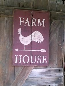 Farmhouse Sign FREE SHIPPING ! / Chicken Sign ( rectangle in shape )