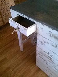 Kitchen Island with stool / On SALE With  Free Shipping ! Farmhouse/cottage style
