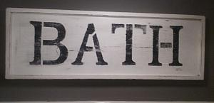 Bath Sign FREE SHIPPING ! / wood sign / bathroom sign
