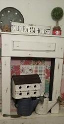 Fireplace/ RaisedPanel / FREE SHIPPING ! / Faux fireplace