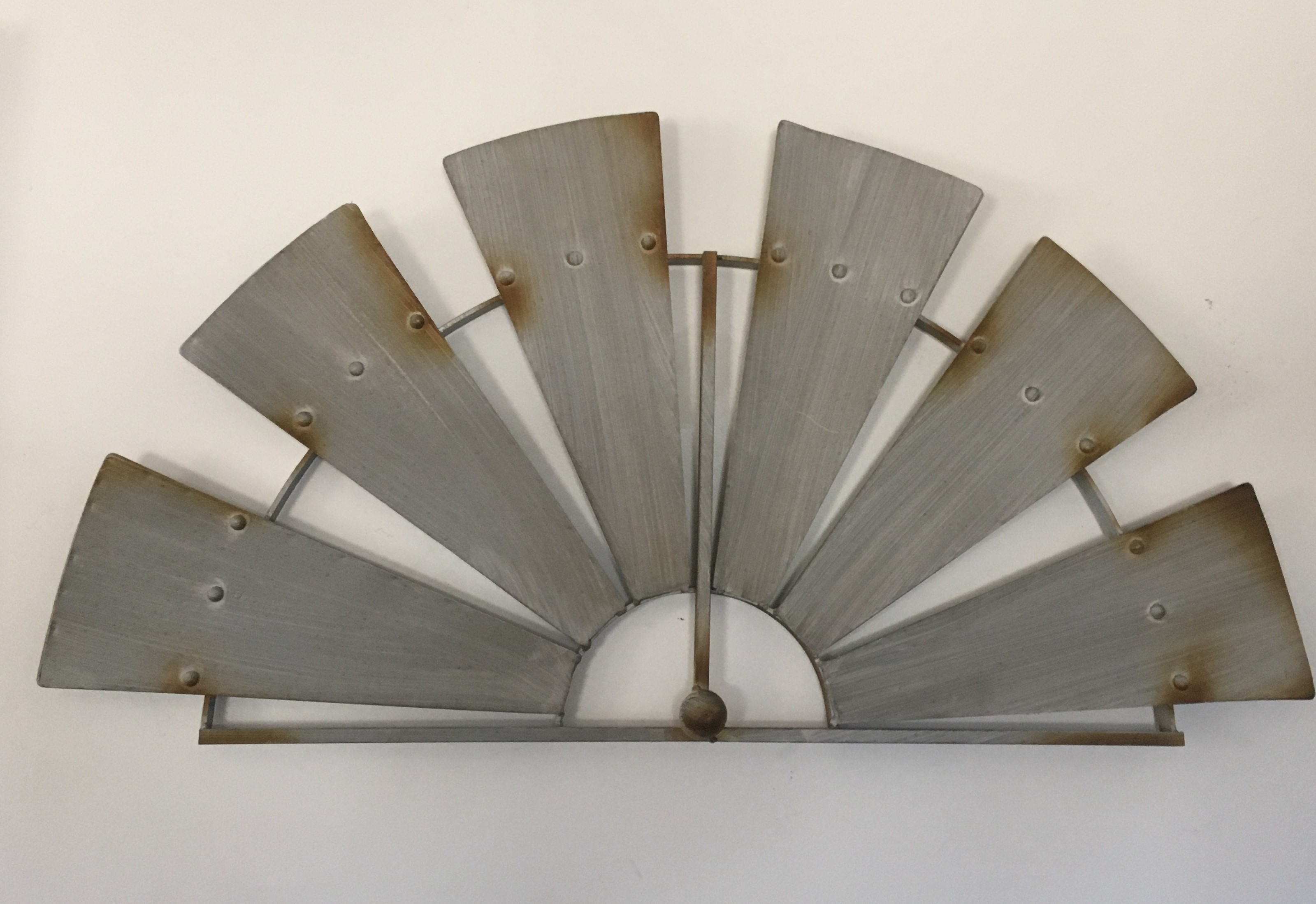 Metal Windmill Wall Hanging