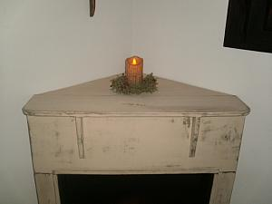 Corner Faux Fireplace