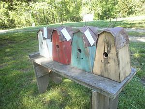 Hanging birdhouse on Sale ! / distressed / cottage / primitive