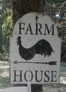 Farmhouse Chicken Picture / wall hanging / Free Shipping