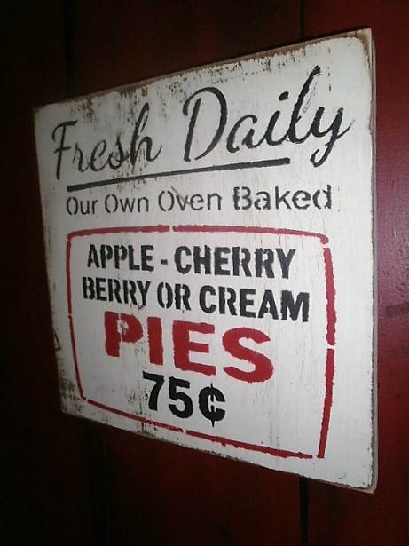 Pie Sign /  hanging Sign/ bakers sign
