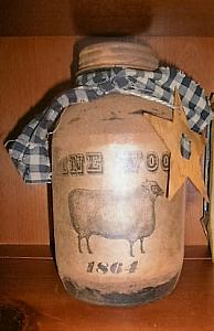 Large Pantry Jar / primitive / grungy