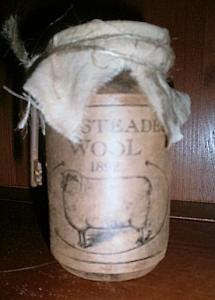 Pantry Jar / grungy jar small jar 4 1/2 in H