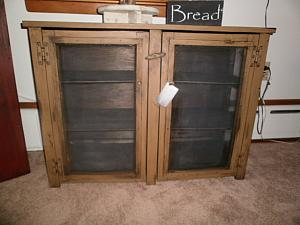 Double Door Pie Safe Table / side table / kitchen storage