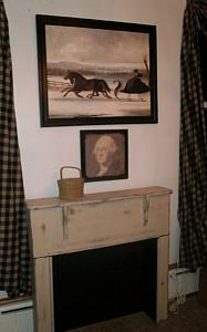 Faux Fireplace Mantle SALE & FREE SHIPPING !  Country Sampler  special  (  New England style )