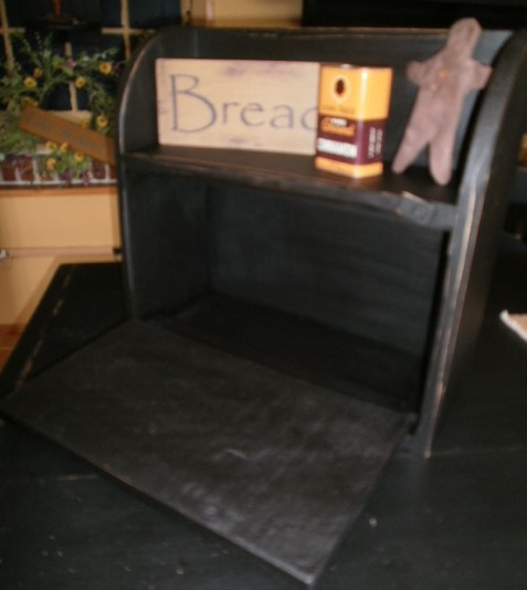 Bread box with display shelf