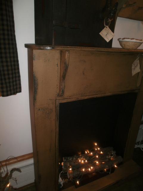 Faux fireplace mantle w bottom palt form teraionfo