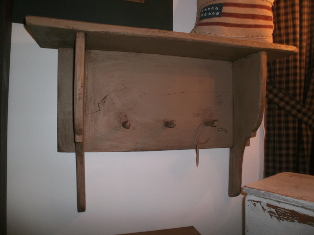 Frontier Shelf With Handmade Pegs