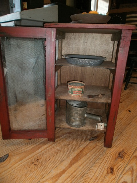 Side Table /Pie Safe Table